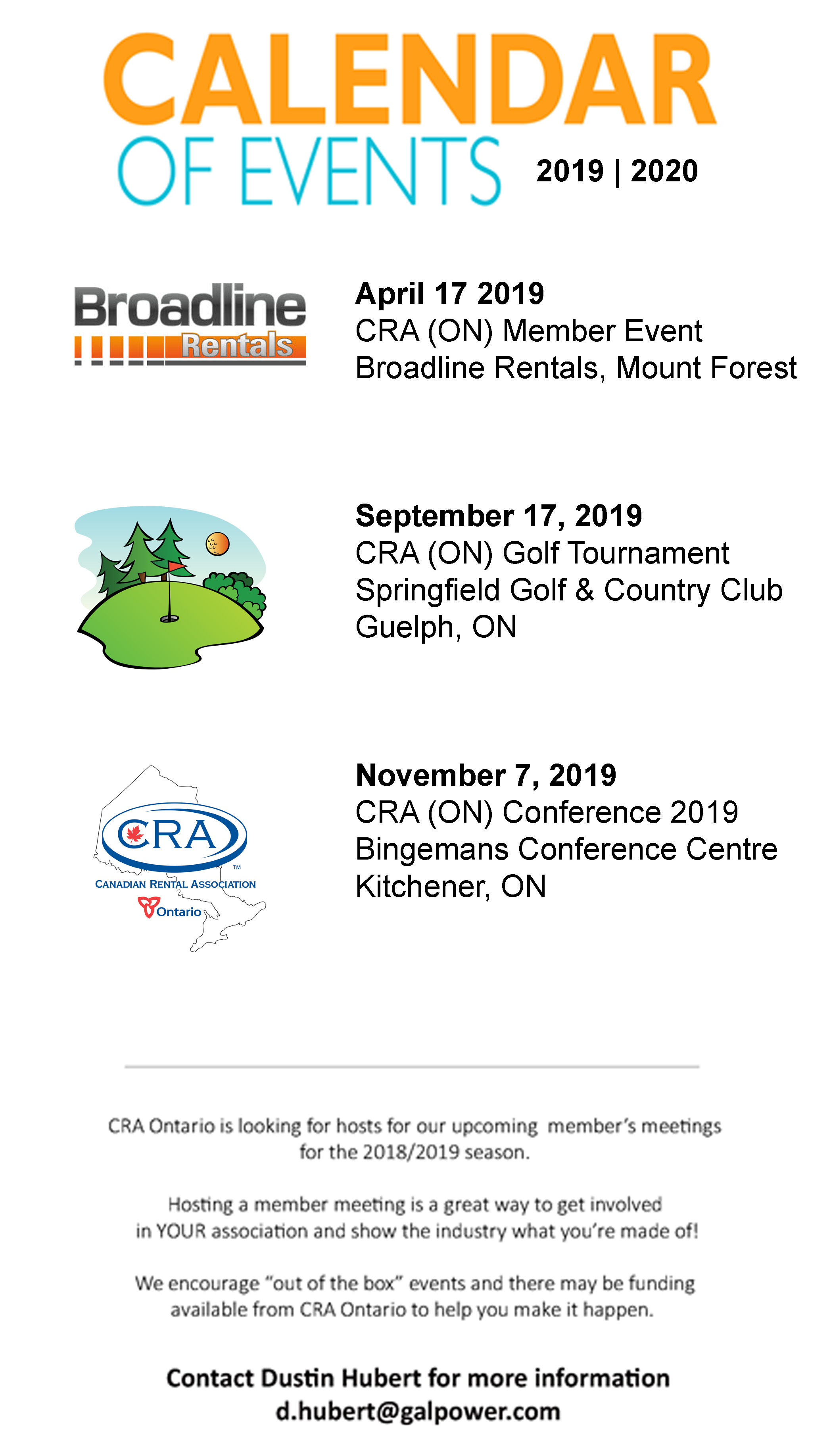 2020 Events Calendar Calendar of Events 2019 2020 | Canadian Rental Association [CRA